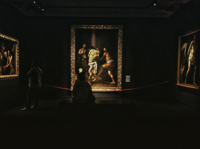 Caravaggio Napoli_allestimento